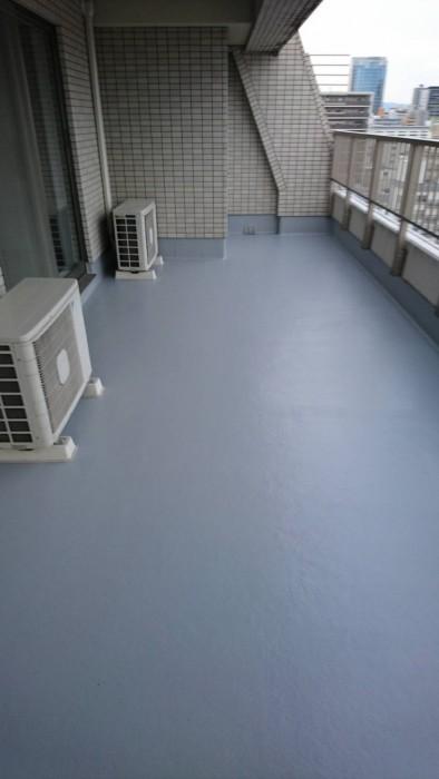 大阪市FRP防水のトップ塗り替え工事After